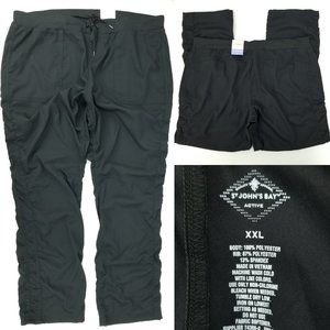 St Johns Bay Active Drawstring Cinch Leg Pants XXL